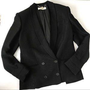 Stella McCartney Textured Black Blazer Jacket